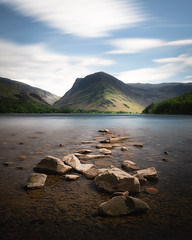Buttermere Lake - Long Exposure (Luke Goodway) Tags: buttermere lakedistrict lake longexposure d850 nikon light portrait rocks clouds movement polariser 10stop nd ndfilter