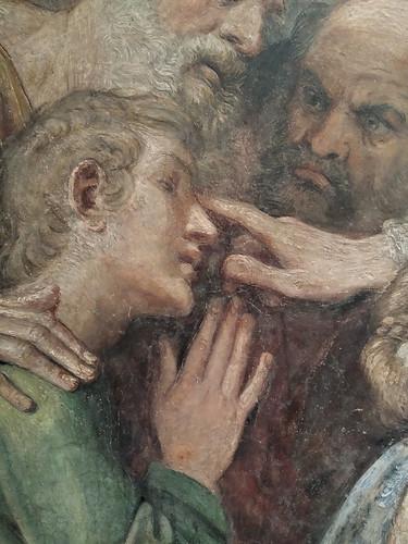 Curación de un joven ciego. Frescos de la Capilla Herrera (1604-1607). Annibale Carracci y colaboradores. Museu Nacional d´Art de Catalunya