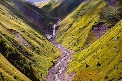 Waterfall, Caucasus Mountains, Kazbegi, Georgia (CamelKW) Tags: georgia waterfall kazbegi caucasusmountains mtskhetamtianeti georgia2019