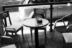 Stadt (tiltdesign2016) Tags: rolleiretro400s adonalrodinal125 analogphotography bw plustekopticfilm7600ise leicam2 canoncanoscan9000f canon50mmf14leicascrewmountltm wuppertal café cafe stadt