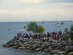 Crowds at the waterfront to see the Air show (Trinimusic2008 -blessings) Tags: trinimusic2008 judymeikle nature international2019airshow toronto to ontario canada thecanadianinternationalairshowcias sonydschx80 sailboats boats lakeontario lake rocks crowds water gratitude