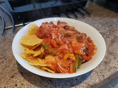 Day 236 (Iain Purdie) Tags: happy 2019 salsa nachos tortillachips peppers food dinner cooking