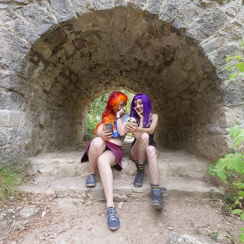 Shooting Starfire & Raven - Teen Titans - Gorges du Caramy -2019-08-20- P1833415