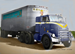 GMC Navajo Cannonball Colorized (gdmey) Tags: gmc gmctrucks cannonball navajofreightlines navajo colorized fallenflag