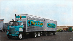 IH Navajo Colorized (gdmey) Tags: international internationaltruck ih colorized navajofreightlines navajo fallenflag