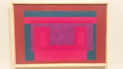 2 Red + Violet with Blue + Brown (sftrajan) Tags: sfmoma museum painting museo musée americanart modernart josefalbers germanimmigrant colorfieldpainting immigrant sanfranciscomuseumofmodernart 20thcentury sanfrancisco california andywarhol—fromatobandbackagain