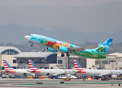 """Alaska """"Spirit of the Islands """" Livery (N560AS) - LAX (jebzphoto) Tags: airlines airline airliner airliners airplane airplanes aviation aircraft plane planes planespotting flight los angeles international airport airports klax lax commercial alaska special livery scheme boeing 737"""