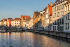 Spinolarei canal at sunset (Sorin Popovich) Tags: architecture belgium bridge bruges canal picturesque spinolarei sunset brugge flemish westflanders water flanders steppedgable belgique crowsteppedgable buildings outdoor europe