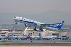 ANA B777-381(ER) (JA777A) - LAX (jebzphoto) Tags: airlines airline airliner airliners airplane airplanes aviation aircraft plane planes planespotting flight los angeles international airport airports klax lax commercial ana boeing 777 al nippon airways