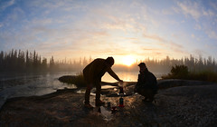 Coffee is Ready (Fish as art) Tags: coffee lavazza morning travel adventure sunrise nikon canada wilderness north northern deepnorth northerncanada camping fishing people uphere paulvecsei outdoorphotography