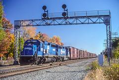 CR 3339 West, Waterloo, IN (Cdr. McBragg) Tags: 3339 cr conrail gp402 nyc signal