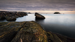 Grace (Simmie | Reagor - Simmulated.com) Tags: 2019 august blue connecticut connecticutphotographer d750 dawn landscape landscapephotographer longexposure madison naturephotographer nikon seascape summer sunrise cloudy digital overcast rockybeach serene water