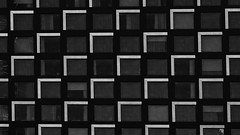 the black and white building (In Explore) (remiklitsch) Tags: city urban blackandwhite abstract building geometric architecture nikon pattern squares montreal blanconoirremiklitsch explore