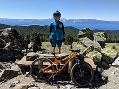 Rose to Van Sickle to bottom of Toads (benjaminfish) Tags: tahoe summer august september 2019 mountain bike rose toads rim trail kid ride