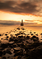 Sunrise at Rattray head (PeskyMesky) Tags: aberdeenshire rattrayhead lighthouse scotland sunrise sunset landscape longexposure red sea sky northsea canon canon5d eos