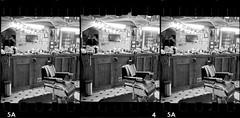SR003.20 (louis.r.zurn) Tags: stereo 3d stereophotography parallelview crossview stereorealist 35mmfilm sprocketholes kentmere400 kentmere blackandwhite blackandwhitefilm barbershop epsonv550 epsonscanner flatbedscanner hc110 homedeveloping