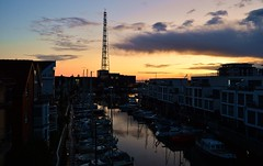 Cuxhaven - Good Morning! (cnmark) Tags: germany deutschland niedersachsen lowersaxony cuxhaven city marina yachthafen ships boats boote hafen sunrise sonnenaufgang clouds wolken himmel sky ©allrightsreserved