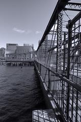 Northern Avenue (Fort Point Channel) Bridge, Boston (sjnnyny) Tags: boston fortpointchannel stevenj sjnnyny d750 mono swingbridge nikonafs2018g steel structure urban city waterfront
