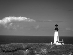 Yaqina Head Lighthouse (World-viewer) Tags: plus iphone8plus iphone8 iphone cellphone mobile awesome beautiful interesting marine water compelling moody moods shadows perspective art artistic supershot nationalgeographic ngc building history historic historical architecture landmark lonely nice oregon coastline pacific sea ocean explore wander travel beautifully scenic stark seascape beach landscape white black blackandwhite bw monochrome mono lighthouse
