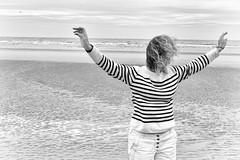 like a bird (the ripped bystander) Tags: blackwhite beach sand sea
