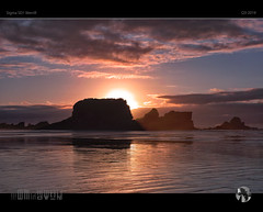 Red Rush (tomraven) Tags: red rush sunset sky clouds sun tomraven aravenimage beach island coast coastal reflections sand q32019 sigma sd1