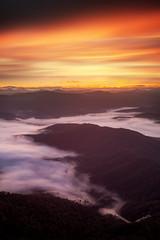 Victorian High Country Sunrise || MOUNT BUFFALO || VICTORIA (rhyspope) Tags: australia aussie vic victoria bright mount buffalo mt mtbuffalo mountbuffalo sunrise view vista lookout fog mist sky clouds travel roadtrip alpine valley
