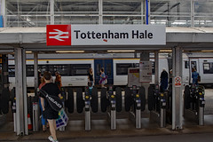 North London Is Red: Tottenham Hale Railway Station London. (Mike Cook 67) Tags: elements tottenhamhale station britishrail stanstedservice publictransport modern modernisation canon250d movingtrain cambridgeline stanstedairport centrallondon greateranglia oysterarea victorialine