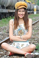 5 years ago (ChalidaTour) Tags: thailand thai asia asian girl femme fils chica nina teen sweet cute beautiful sexy pretty slender slim petite portrait hat sitting legs smile person people happyplanet asiafavorites og250