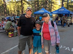 Max with Grammy and Grampy (benjaminfish) Tags: tahoe summer august september 2019 mountain bike rose toads rim trail kid ride