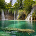 Galovački Buk Waterfall at Galovac lake in Plitvice Lakes National Park, Croatia