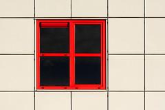 Red window (Jan van der Wolf) Tags: map197132v window raam red rood roodenwit redrule white redandwhite gevel gebouw architecture architectuur lines lijnen