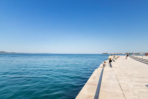 Treppen der Meeresorgel in Zadar, Kroatien