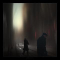 Sombras en la G.V. (Mariano Belmar Torrecilla) Tags: murcia artwork 11 cinematic city conceptual collage