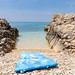 Strandmatte auf der Insel Silba in Kroatien