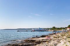 Zalic harbour on the south-west coast of Silba, Croatia