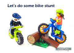 Let's do some bike stunt (WhiteFang (Eurobricks)) Tags: lego collectable minifigures series city town space castle medieval ancient god myth minifig distribution ninja history cmfs sports hobby medical animal pet occupation costume pirates maiden batman licensed dance disco service food hospital child children knights battle farm hero paris sparta historic brick kingdom party birthday fantasy dragon fabuland circus