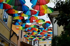 Umbrellas (Gábor.Siska) Tags: nikondseries nikonphotography nikkor nikonhungary nikonphoto nikond7000 nikon d7000series d7000 dslr umbrella colors colorfull city cityscape szentendre day street