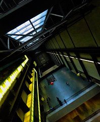 The Tilt Tate Modern (Steve Taylor (Photography)) Tags: architecture digitalart artgallery black blue red yellow white dutchangle dutchtilt uk gb england greatbritain unitedkingdom london shadow tatemodern