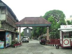 Archway across street in Surakarta, Indonesia (philip.mallis) Tags: indonesia solo surakarta street city