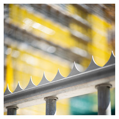 Do not enter the yellow zone (leo.roos) Tags: scaffold constructionsite scaffolding yellow hek geel fence bouwplaats steiger lens russ 50 abstra vega95021 vega92150 вега92150 cinelens krasnogorsk16mmfilmcamera красногорск russianlenses sovietglass movielens krasnogorskbayonet darosa leoroos spike