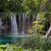 Galovački Buk Waterfall at Galovac lake in Plitvice, Croatia