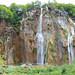 Nah-auf-nah-me des Großen Wasserfalls (Veliki Slap) im Nationalpark Plitvicer Seen, Kroatien