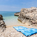 Beach mat on Silba island, Croatia