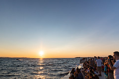 Sunset over the Adriatic Sea as seen from the Sea Organ in Zadar