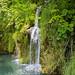Schlucht mit kristallklarem Wasser im Nationalpark Plitvicer Seen, Kroatien