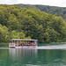 Tourist boat on Kozjak lake in Plitvice Lakes National Park, Croatia