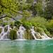 Small waterfall on Korana river in Plitvice Lakes National Park, Croatia