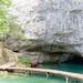 Cave on Korana river in Plitvice Lakes National Park, Croatia