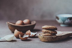 An egg's life (Chapter2 Studio) Tags: stilllife darkmood moody cookies eggs bowl