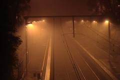 IMG_9137_ha (JoTomOz) Tags: fog train station night 85mm victoria